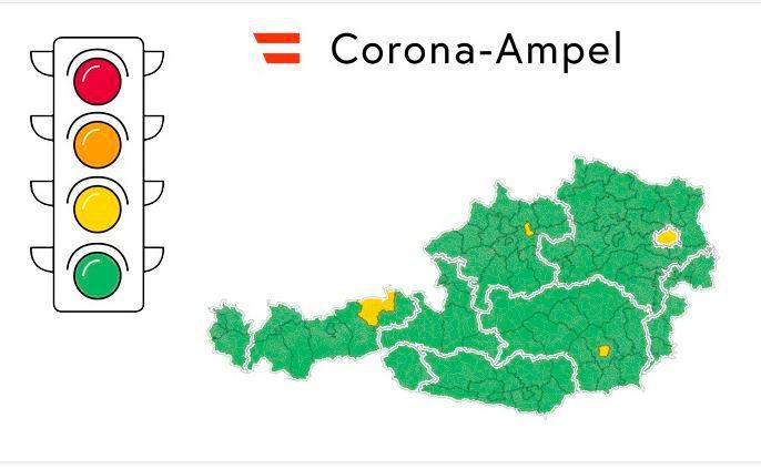 Corona Ampel Vier Regionen In Osterreich Auf Gelb Trend At