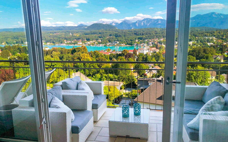 INVEST AND RELAX.  In Velden, apartments with a lake view are often available for as little as 500,000 euros.