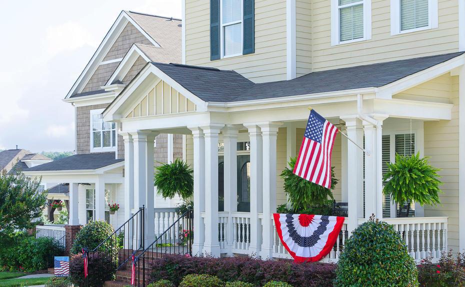 Häuser kaufen in den USA Absatz zieht leicht an