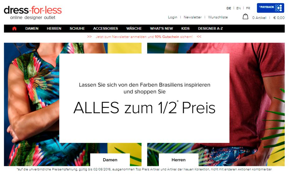 "Signa übernimmt insolventen Online-Händler ""Dress-for-Less"""