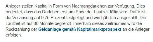 """""""Nachrangdarlehen"""" laut der Advertorials von kitzVenture (Screenshot aus dem Advertorial auf www.diepresse.com vom 9.1.2017)."""