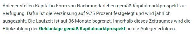 """Aktualisierter Passus zu """"Nachrangdarlehen"""" in den Advertorials von kitzVenture (Screenshot vom 16.1.2017; Advertorial auf www.tt.com)."""